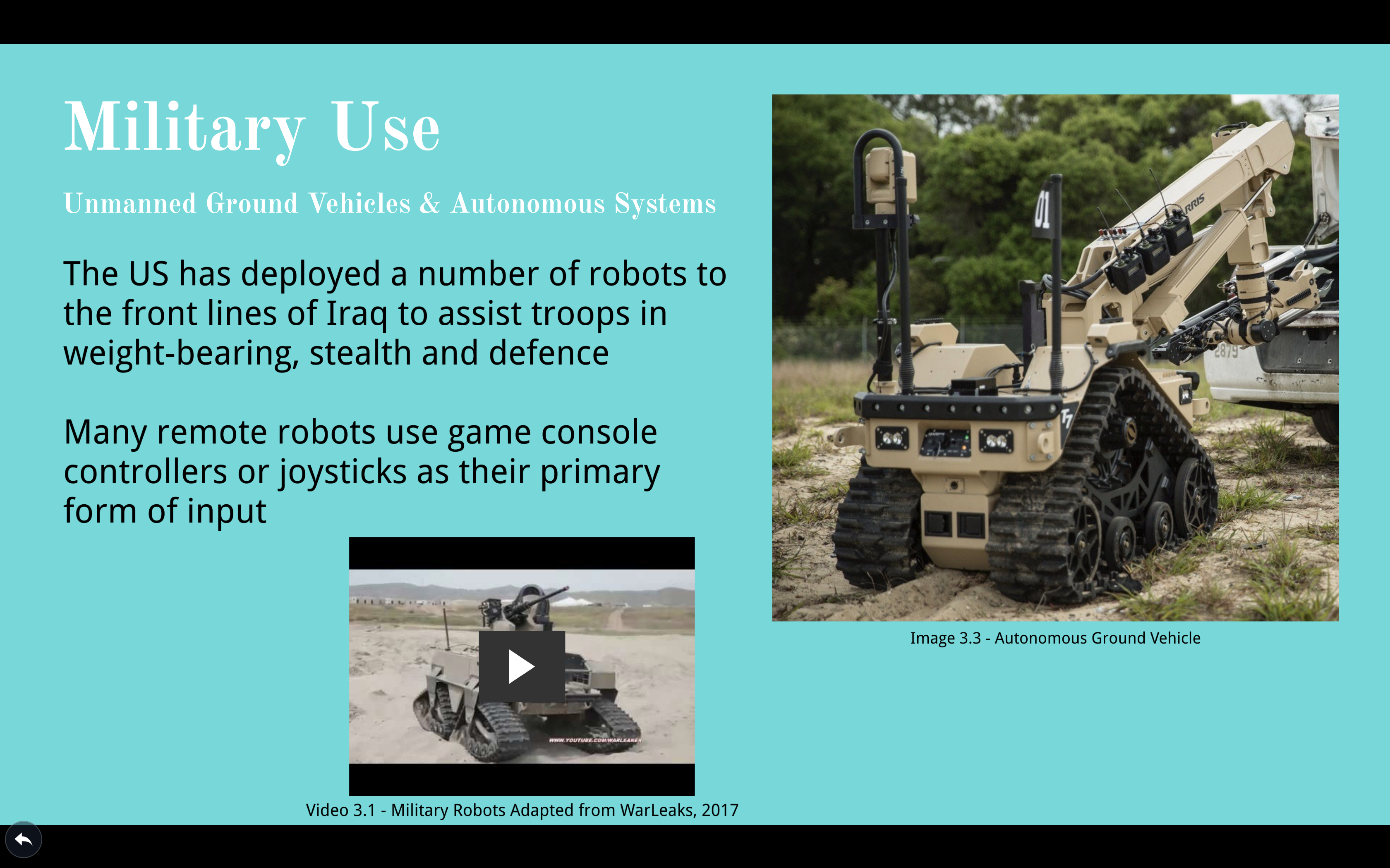 Developing Technologies: Robotics & Drones (Presentation)